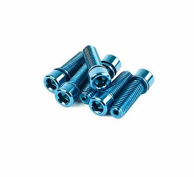Mission HOLLOW Stem Bolts blue