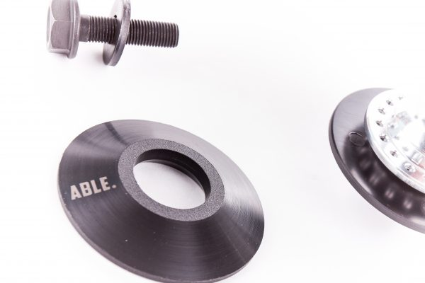 Able A-Roll Front Hub Polished (with hubguards)