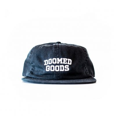 Doomed Goods 6 Panel Flat Peak Cap
