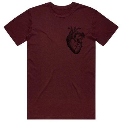Cult Heart Tee / M (Burgundy)