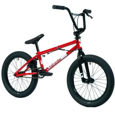 """Tall Order Ramp 18"""" Complete Bike (Gloss Red With Black Parts)"""