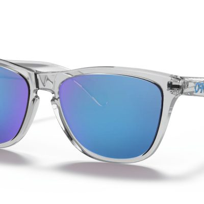 Oakley Frogskins™  (Crystal Clear Frame, Prizm Sapphire Iridium Lenses)