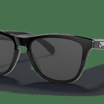 Oakley Frogskins™ (POLISHED BLACK FRAME, GREY LENSES)