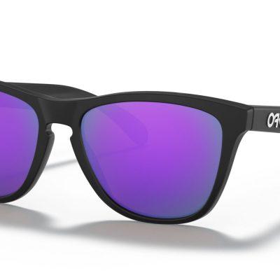 Oakley Frogskins™ (Matte Black Frame, Prizm Violet Lenses)