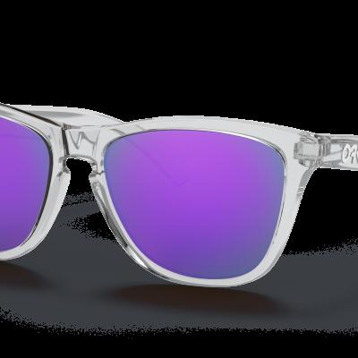 Oakley Frogskins™ (Prizm Violet Lenses,  Polished Clear Frame)