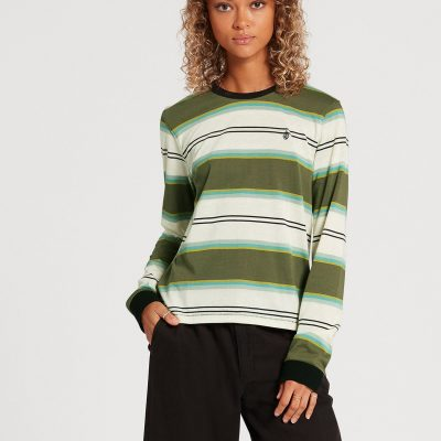 VOLCOM CHOICE IS YOURS LONG SLEEVE TEE / size -XS (ARMY GREEN COMBO)
